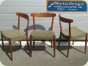 Three beautifully sculpted Danish style teak chairs by Skaraborgs Möbelindustri Tibro