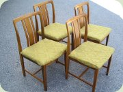 Set of four Swedish 60's walnut chairs by Linde Nilsson Lammhult