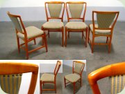 Set of four Swedish                           50's chairs by Westbergs Furniture