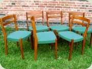 Set of 6 Swedish 60's                           teak dining chairs, probably by Troeds                           Bjärnum