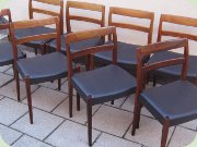 Troeds Garmi rosewood dining chairs, 50's or 60's Swedish design by Nils Jonsson