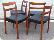 Troeds Garmi 4                           rosewood dining chairs by Nils Jonsson