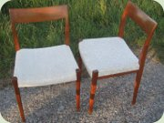 Set of 6 teak chairs, Swedish design by Yngve Ekström for Troeds