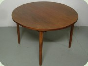 Troeds Malta Swedish                           60's round teak dining table with 2 leaves,                           Nils Jonsson
