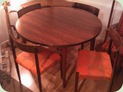 60's rosewood dining table & chairs by Nils Jonsson, Troeds Bjärnum, Sweden
