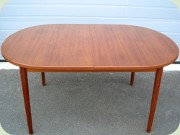 Large, oval teak dining table with leaves, Swedish 60's design by Nils Jonsson, Troeds Bjärnum