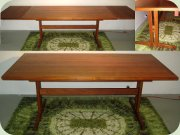 Swedish 60's large shaker dining table by Ulferts Tibro