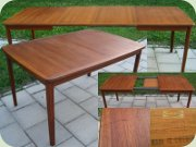 Swedish 50's or 60's teak extending dining table by Ulferts Tibro