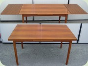 Swedish 60's teak rectangular dining table with dutch leaves, Ulferts Tibro
