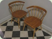 Swedish 50's teak & birch chairs, Wigells Florida