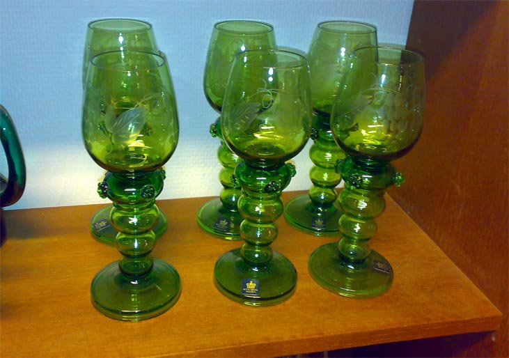 Sold Objects Glass Wanjas Vardagsrum Stockholm Sweden